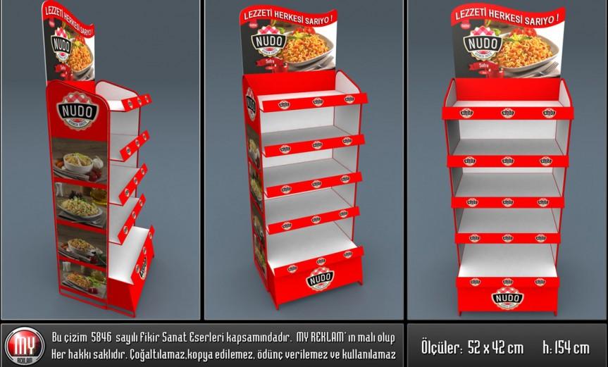Metal ve Karton Gıda Standı